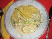Pangasius in Kräutersauce mit Spaghetti - Rezept