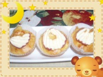 Apfel-Muffins mit Apfelchips - Rezept
