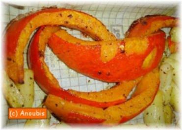 Gemüsebeilage - Ofen-Kürbis - Rezept