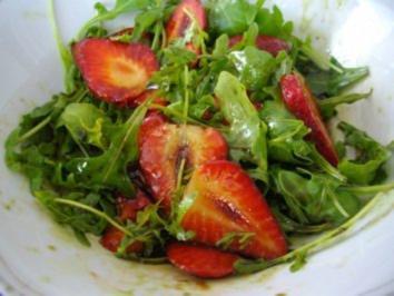 Erdbeer- Rucola- Salat - Rezept
