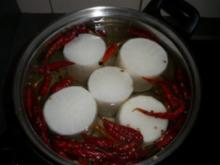 Eingelegter Rettich mit Chili - Rezept