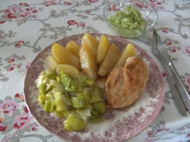Hähnchen-Brust  in Salbei Butter gebraten - Rezept