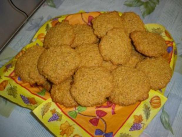 Haferflockenplätzchen oder Haferflockenkekse - Rezept