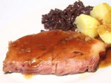 Kasslerbraten mit Klösse und Rotkohl - Rezept - Bild Nr. 2