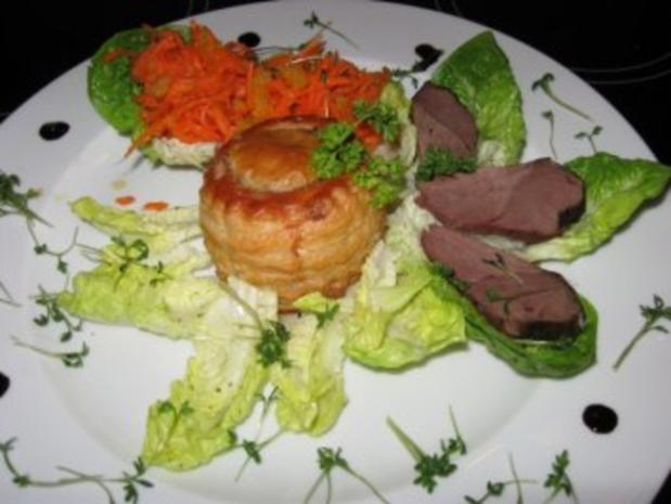 feine Pastetchen mit Gänsebrust u. Champignons - Rezept - Bild Nr. 2