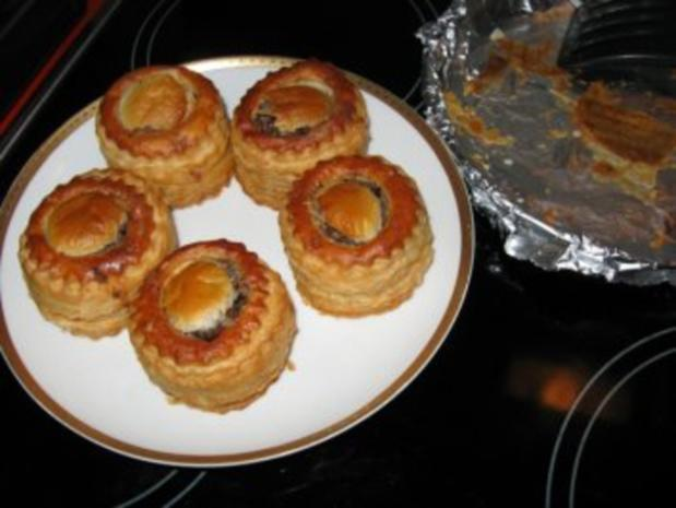 feine Pastetchen mit Gänsebrust u. Champignons - Rezept - Bild Nr. 9