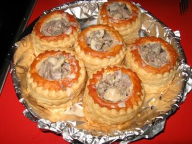 feine Pastetchen mit Gänsebrust u. Champignons - Rezept - Bild Nr. 6