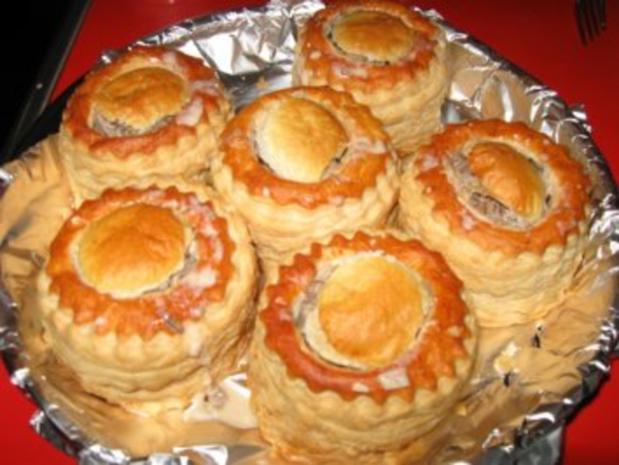 feine Pastetchen mit Gänsebrust u. Champignons - Rezept - Bild Nr. 7