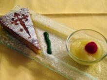 Tarta de Santiago mit Limonenüberraschung - Rezept