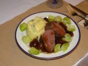 Hirschfilet mit Madeira-Maronen Soße - Rezept