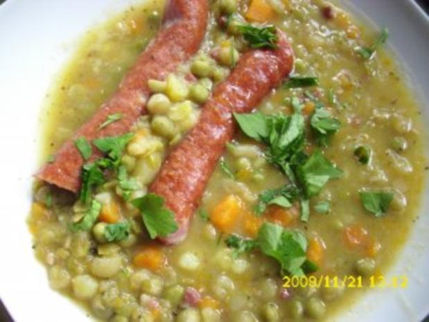 Suppe: Erbseneintopf - Rezept - Bild Nr. 3