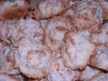 Weihnachten - Kokosmakronen mit Marzipan - Rezept
