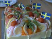 Schwedische fischige SMÖRGASTARTA - Rezept