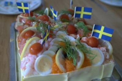 Rezept: Schwedische fischige SMÖRGASTARTA
