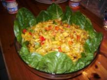 Pastasalat mit Currydressing - Rezept
