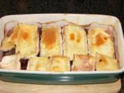 Schweinefilet unter Preiselbeer-Camembert Haube - Rezept