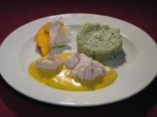 Gegrillter Seeteufel mit Limonenrisotto und Mango-Hollandaise - Rezept