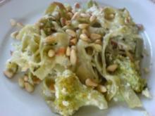 Überbackene Broccolinudeln - Rezept