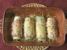 Porree mit Schinken und Käse - Rezept