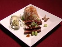 Beef Teriyaki garniert mit niedlichen Mehrbeinern (Jule Gölsdorf) - Rezept