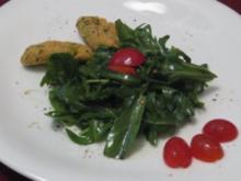 Vegetarische Linsenfrikadellen an Rucolasalat - Rezept