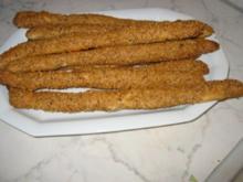 Knusper-Sesamstangen - Rezept
