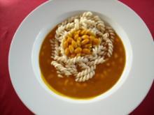 Pasta mit Hokkaido-Sauce und weißen Bohnen - Rezept