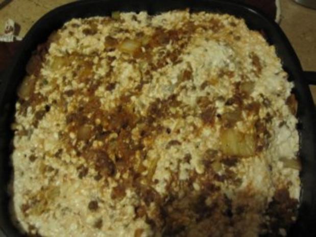 Kartoffelauflauf mit Kohl, Lauch und Tatar - Rezept - Bild Nr. 3
