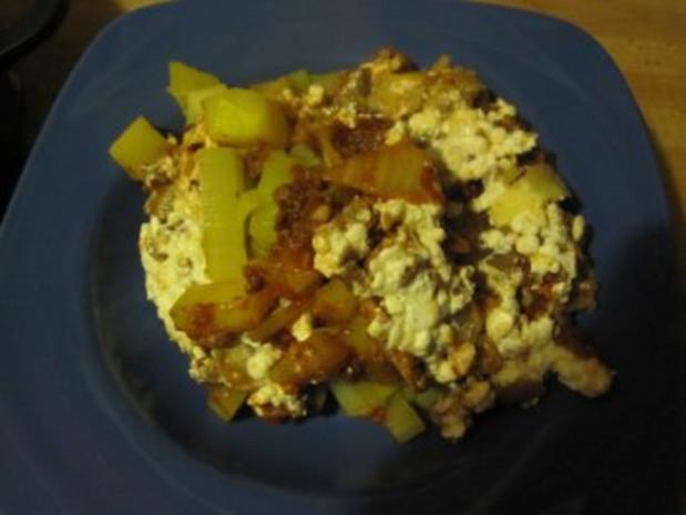 Kartoffelauflauf mit Kohl, Lauch und Tatar - Rezept - Bild Nr. 4