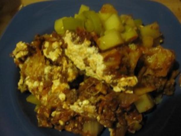 Kartoffelauflauf mit Kohl, Lauch und Tatar - Rezept - Bild Nr. 7