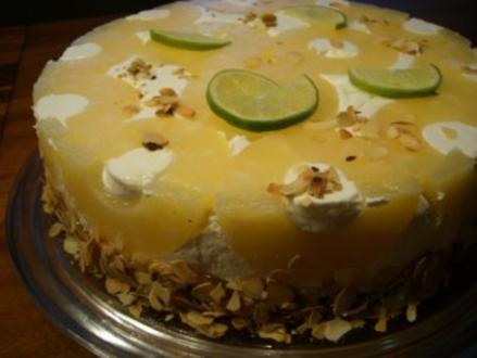 Torte : Ananas - Torte - Rezept