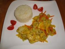 Curry-Hähnchen mit Ingwer-Reis - Rezept