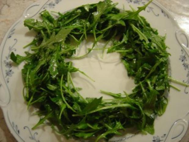 Sherry - Garnelen im Rucola-Salat-Bett mit Mandeln... - Rezept - Bild Nr. 5