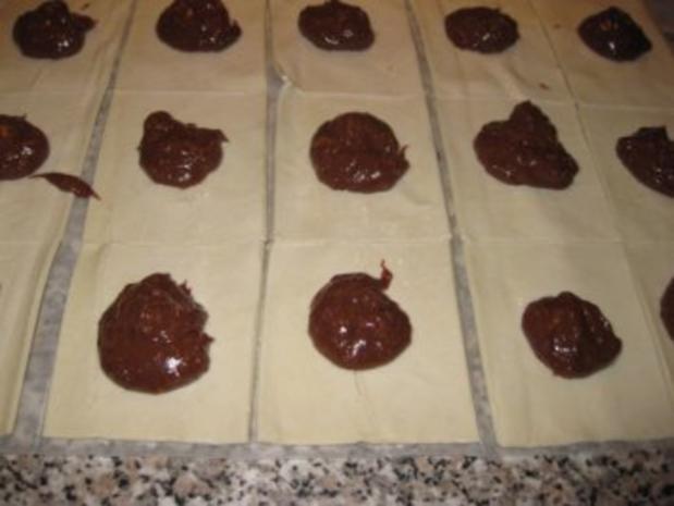 Nutella-Pfirsichcreme-Blätterteigteilchen.... - Rezept - Bild Nr. 3