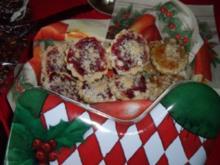 Weihnachtsplätzchen: Preiselbeer und Kokosstreusel - Rezept