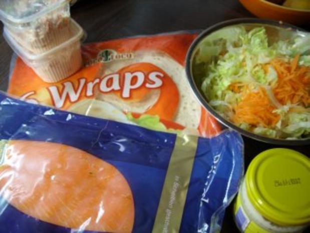 Wraps mit Lachs - Rezept - Bild Nr. 2