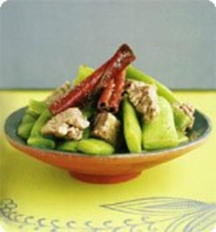 Schmorbohnen mit Rindfleisch - Rezept
