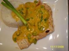 Curry-Honig-Soße mit Putenschnitzel - Rezept
