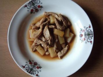 Schweinefilet mit Ananas aus Thailand - Rezept