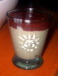 Vanillepudding, selbstgemacht - mit Himbeersoße - Rezept