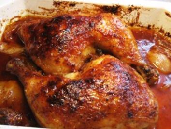 Hühnerkeulen - pikant  gewürzt ... - Rezept