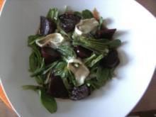 Vorspeisen: Feldsalat mit Ziegenkäse - Rezept