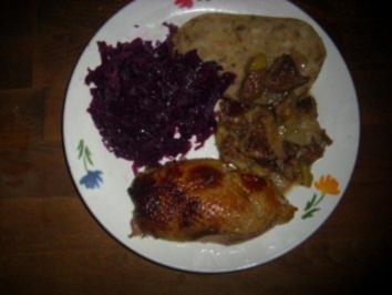 Hauptgericht: Gefüllte Ente weihnachtlich angehaucht - Rezept