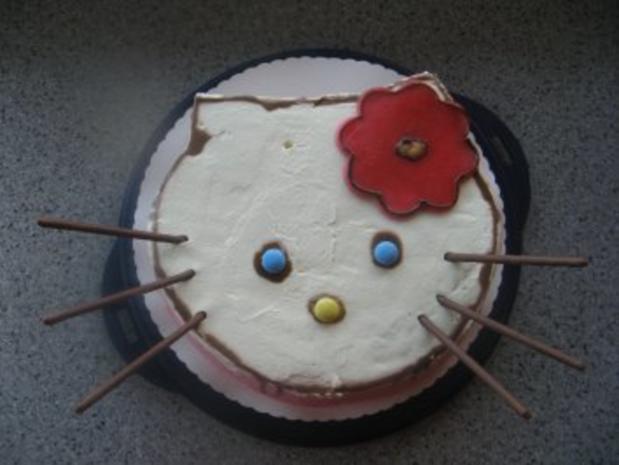 Hello-Kitty-Torte - Rezept