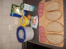 Käse-Salami Sandwich - Rezept