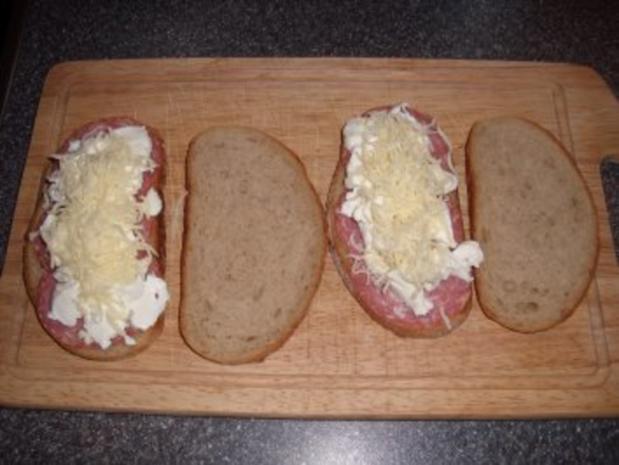 Käse-Salami Sandwich - Rezept - Bild Nr. 2