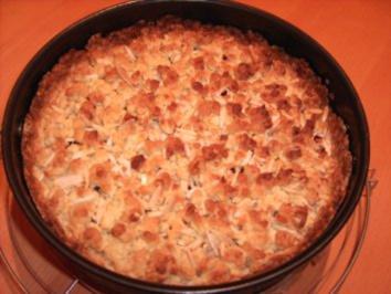 Kirsch-Marzipan-Streusel-Kuchen - Rezept