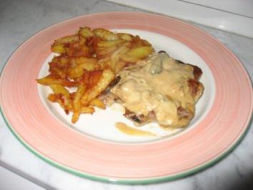 Kotelett mit Champignon-Sauße - Rezept