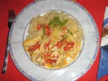 Hähnchen-Paprika-Fenchel-Geschnetzeltes mit Basmatireis - Rezept