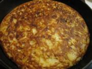 Tortilla de patatas - spanisches Kartoffelomelett - Rezept